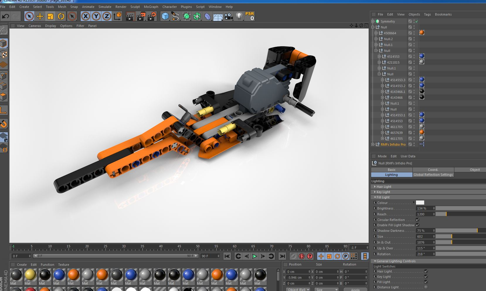 Lego Technic - Infidio Pro - Cinema 4D Lighting Studio