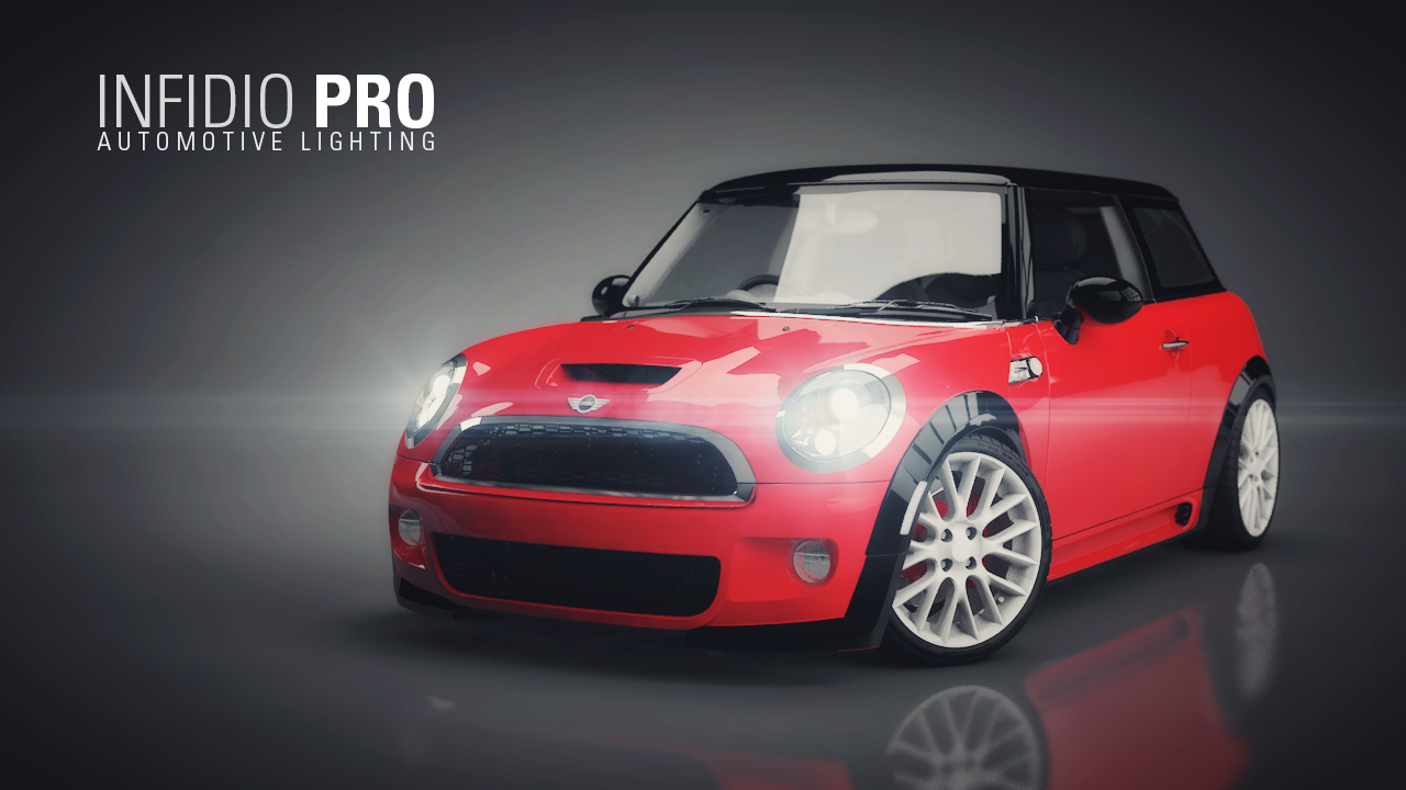 Mini Cooper - Infidio Pro - Cinema 4D Lighting Studio