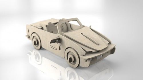 Wooden Car _01
