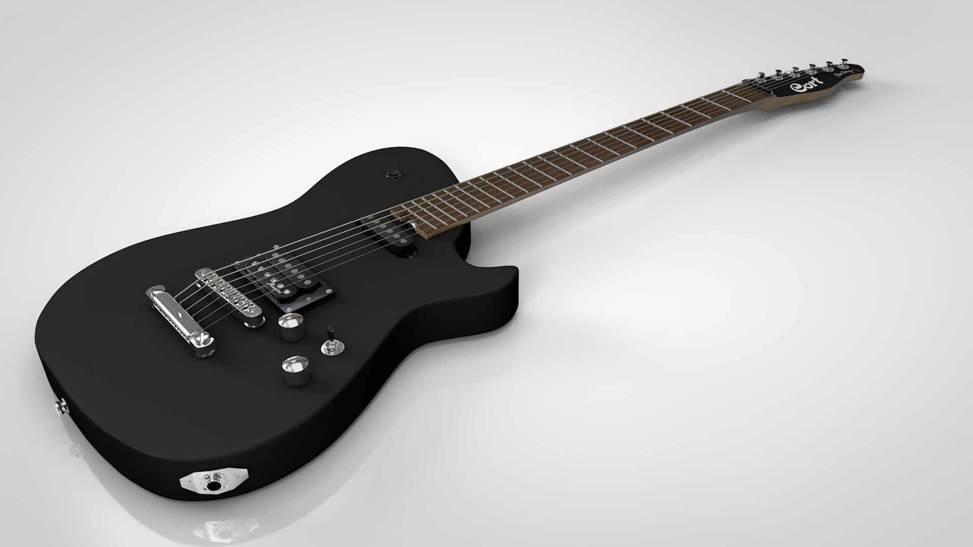 Cort MBC-1 Electric Guitar Model for Cinema 4D